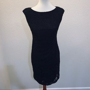 Lauren Ralph Lauren Black Lace Dresa LBD Size 4P